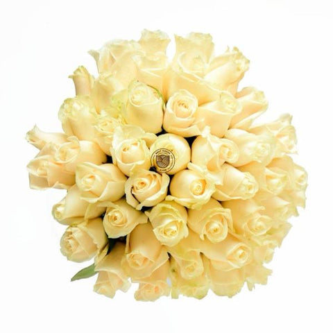 Pure White Feelings Rose Bouquet
