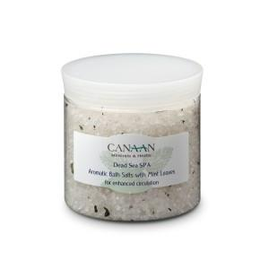 Canaan Aromatic Bath Salts With Natural Mint Leaves - Beaute Premier