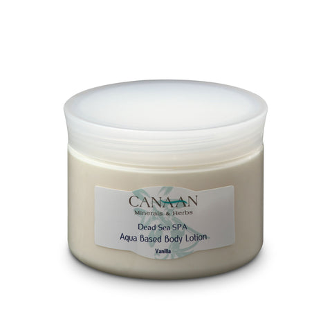 Canaan Dead Sea Aqua Based Body Cream Lotion Vanilla - Beaute Premier