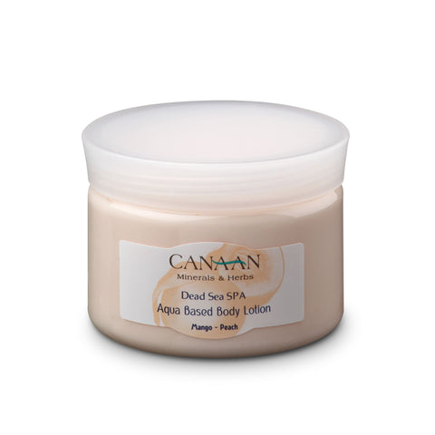 Canaan Dead Sea Aqua Based Body Cream Lotion Mango Peach - Beaute Premier