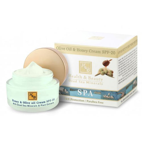 H&B Dead Sea Moisturizing Olive Oil and Honey Cream SPF-20 - Beaute Premier