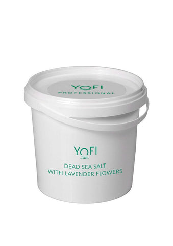 Yofi Dead Sea Salt with Lavender Bucket - Beaute Premier