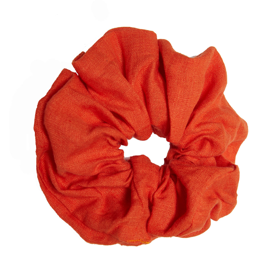 Linen Scrunchie - Burnt Orange - Saint Marlo