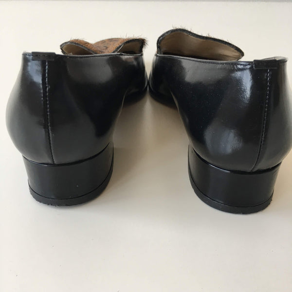 PONY HAIR LEATHER SHOES