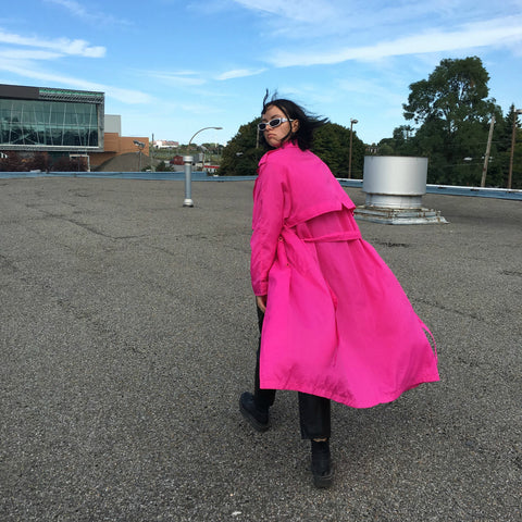 HOT PINK TRENCH COAT