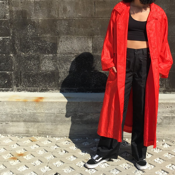 CHRISTIAN DIOR RED TRENCH COAT