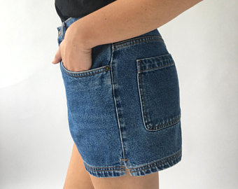 NEVADA BLUE DENIM SHORTS