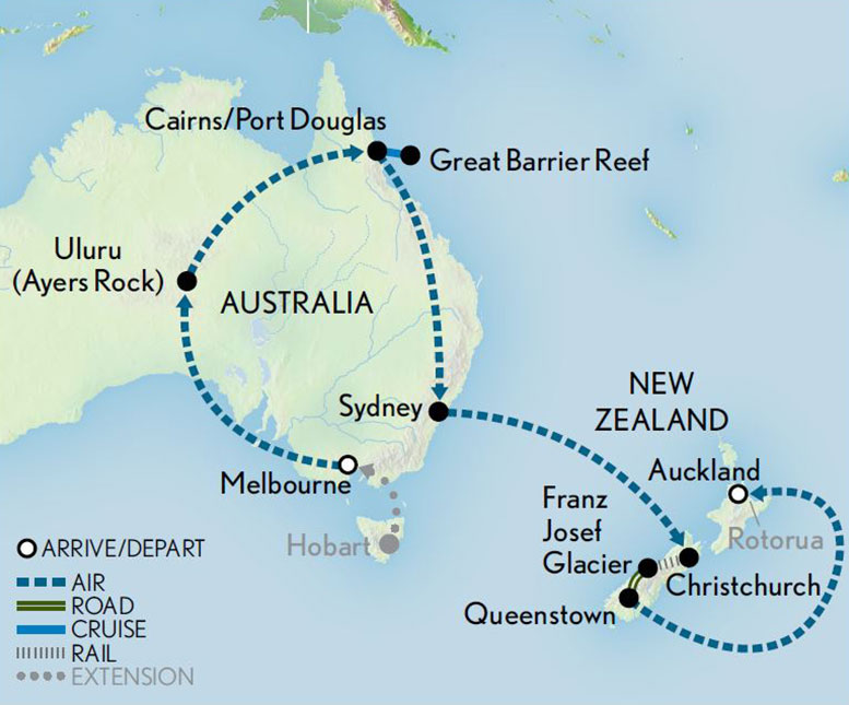 Map Of Australia Tasmania And New Zealand.Australia New Zealand Lands Down Under Fly Girl Travel