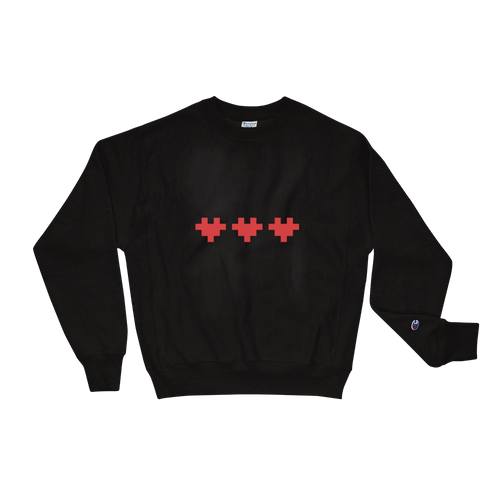 PIXELATED HEART CHAMPION SWEATSHIRT