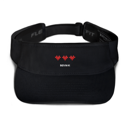 PIXEL LOVE VISOR (BLACK)