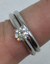 Half Carat Diamond 14 Karat White Gold Engagement Wedding Set 2pcs