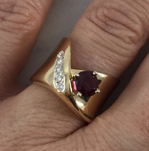 1.16 Carat Natural Ruby and Diamond Dress Cocktail Ring GIA Certified