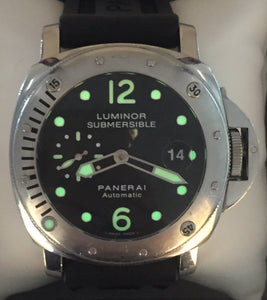 PANERAI Automatic Luminor Submersible with Leather & Rubber Band
