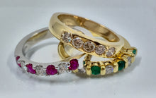 Ladies Ruby and Diamond Band