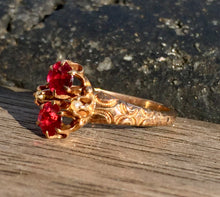 Vintage Rubellite and Pearl Ring Circa 1920