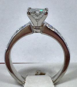 REDUCED! 1.02ct Princess Cut Diamond Engagement Wedding Ring in Platinum