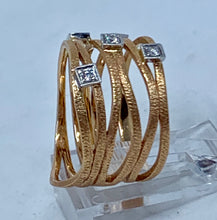 Simon G Diamond 18k Rose Gold Banded Ring