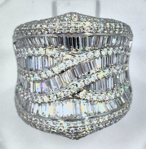 4.0ct. Diamond Extravaganza Dress Cocktail Ring 18K White Gold