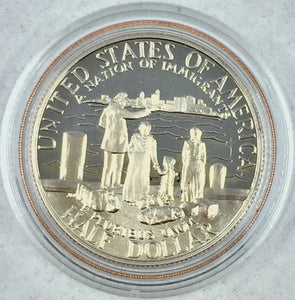 1986 S Liberty 90% Silver Dollar and Half Dollor United States Mint Set