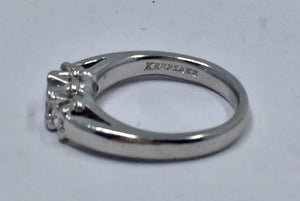 3 Princess Cut Diamond Engagement Wedding Band Ring  Platinum
