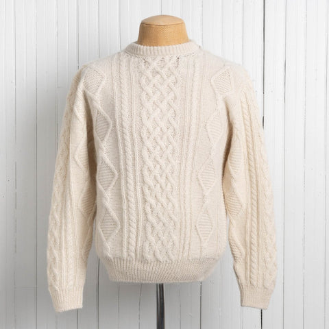 mens alpaca cable knit sweater