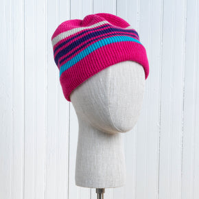 Lined Knit Hat - Striped