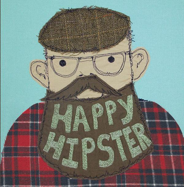 'Happy Hipster' Greeting Card