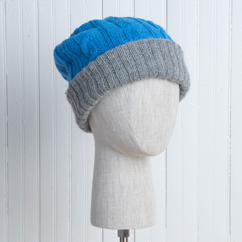 Cable Knit Hat - Reversible