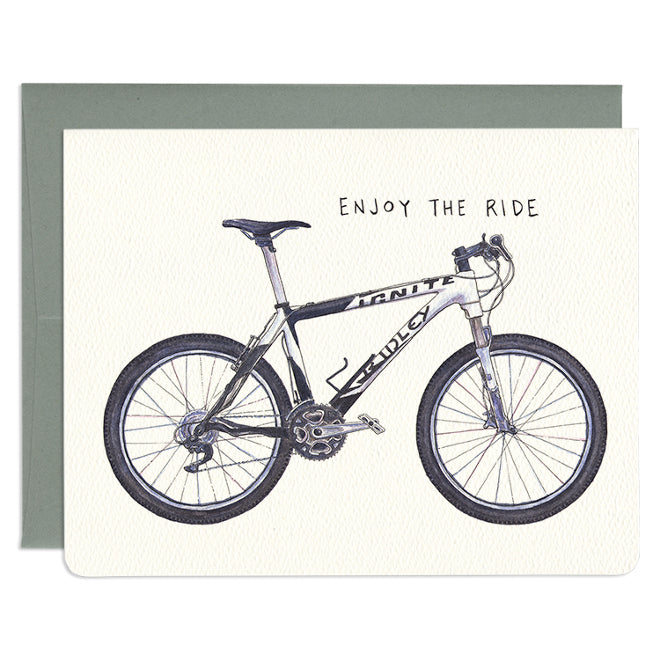 'Enjoy The Ride' Greeting Card