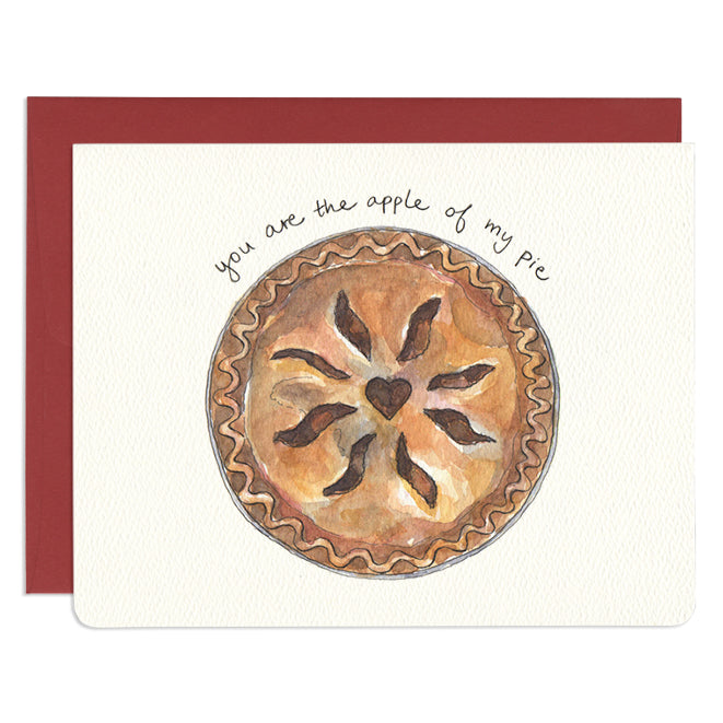 'Apple of my Pie' Greeting Card