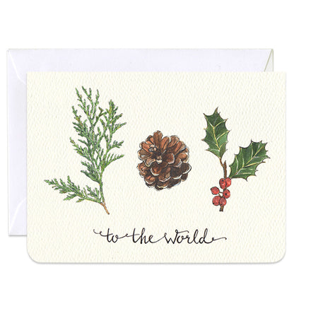 'Joy to the World' Mini Card