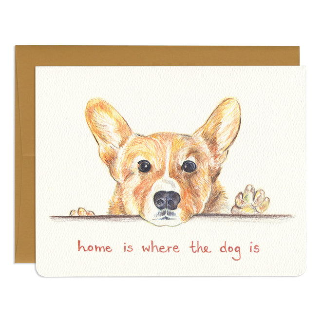 'Home is Where the Dog is' Card
