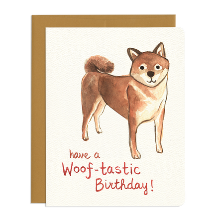 'Woof-tastic' Birthday Card