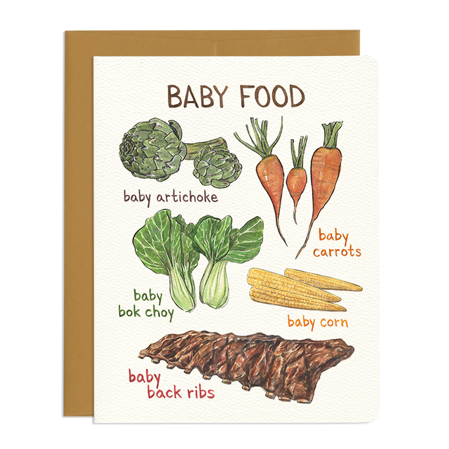 'Baby Food' Greeting Card