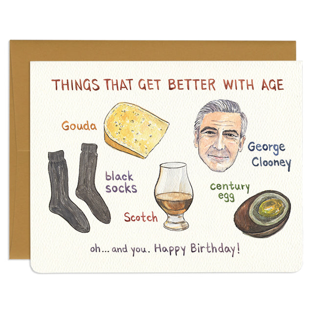 'Better With Age' Birthday Card