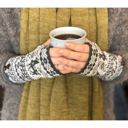 Samantha Holmes Fair Isle Fingerless Gloves