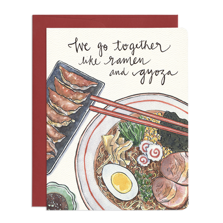 'Ramen and Gyoza' Greeting Card