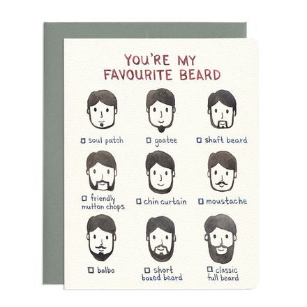 'Favorite Beard' Card