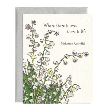 'Lily of the Valley ' Love Card