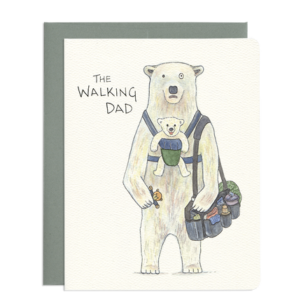 'The Walking Dad' Newborn Card