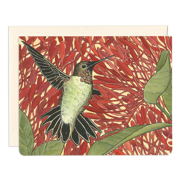 'Hummingbird Healer' Greeting Card