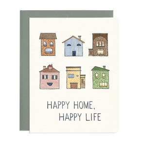 'Happy Home, Happy Life' Card