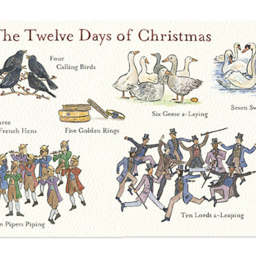 '12 Days of Christmas' Christmas Card- Flat Art Print