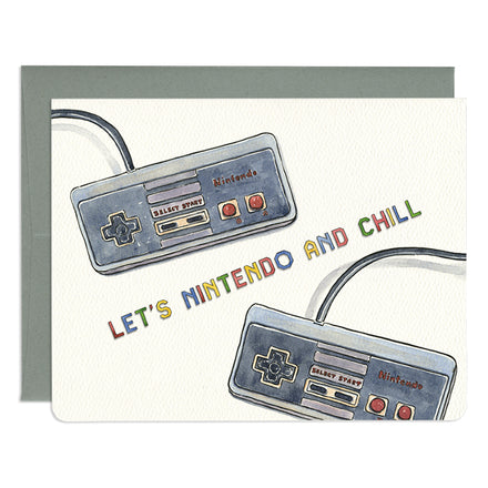 'Nintendo and Chill' Card
