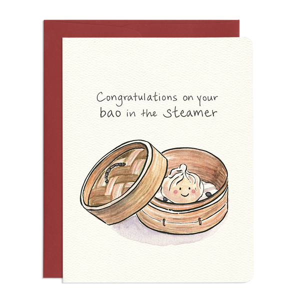 'Baby Bao' Congratulations Card