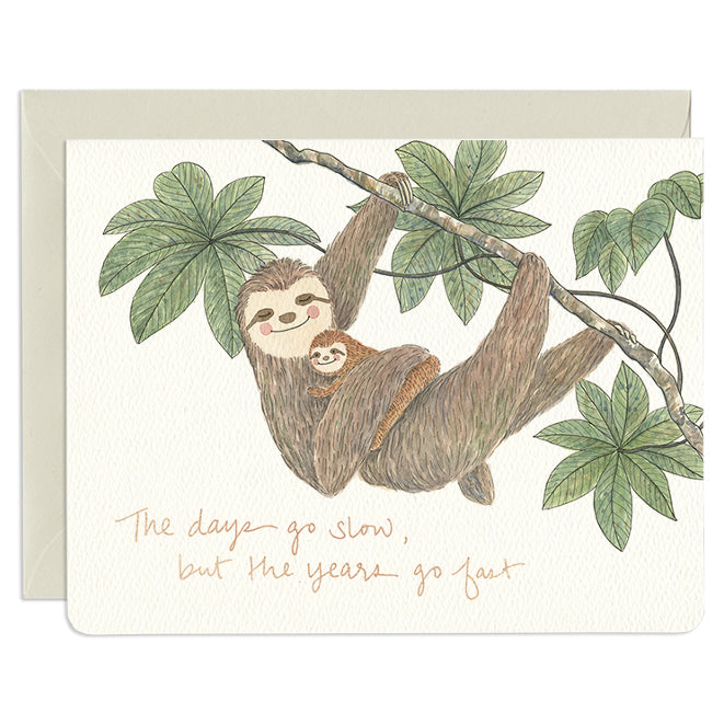 'Sloth Mom' Mother's Day Card