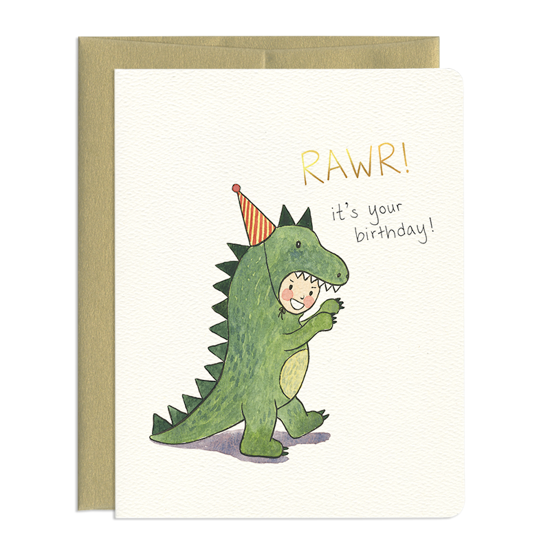 'Rawr!' Dino Birthday Card
