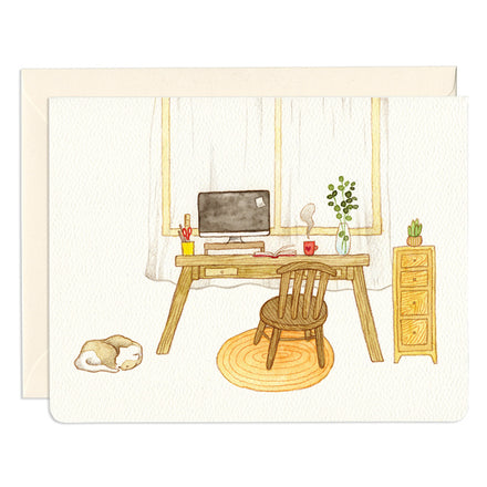 'Working Nook' Greeting Card