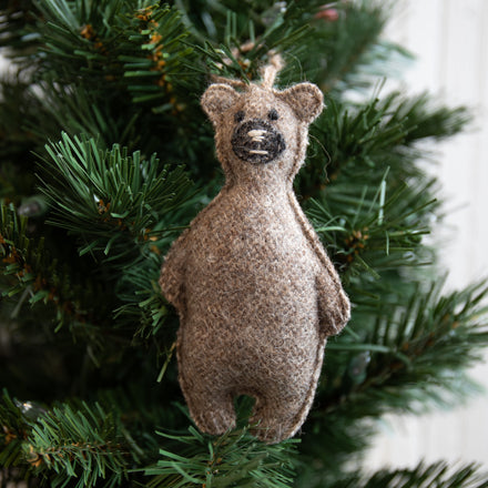 Felted Bear Ornament