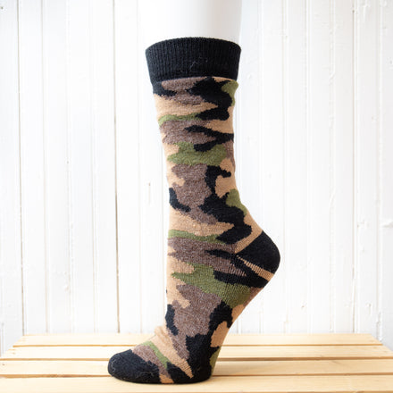 Camouflage Crew Hiking Socks